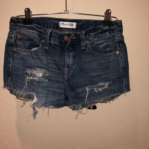 Madewell cut off shorts